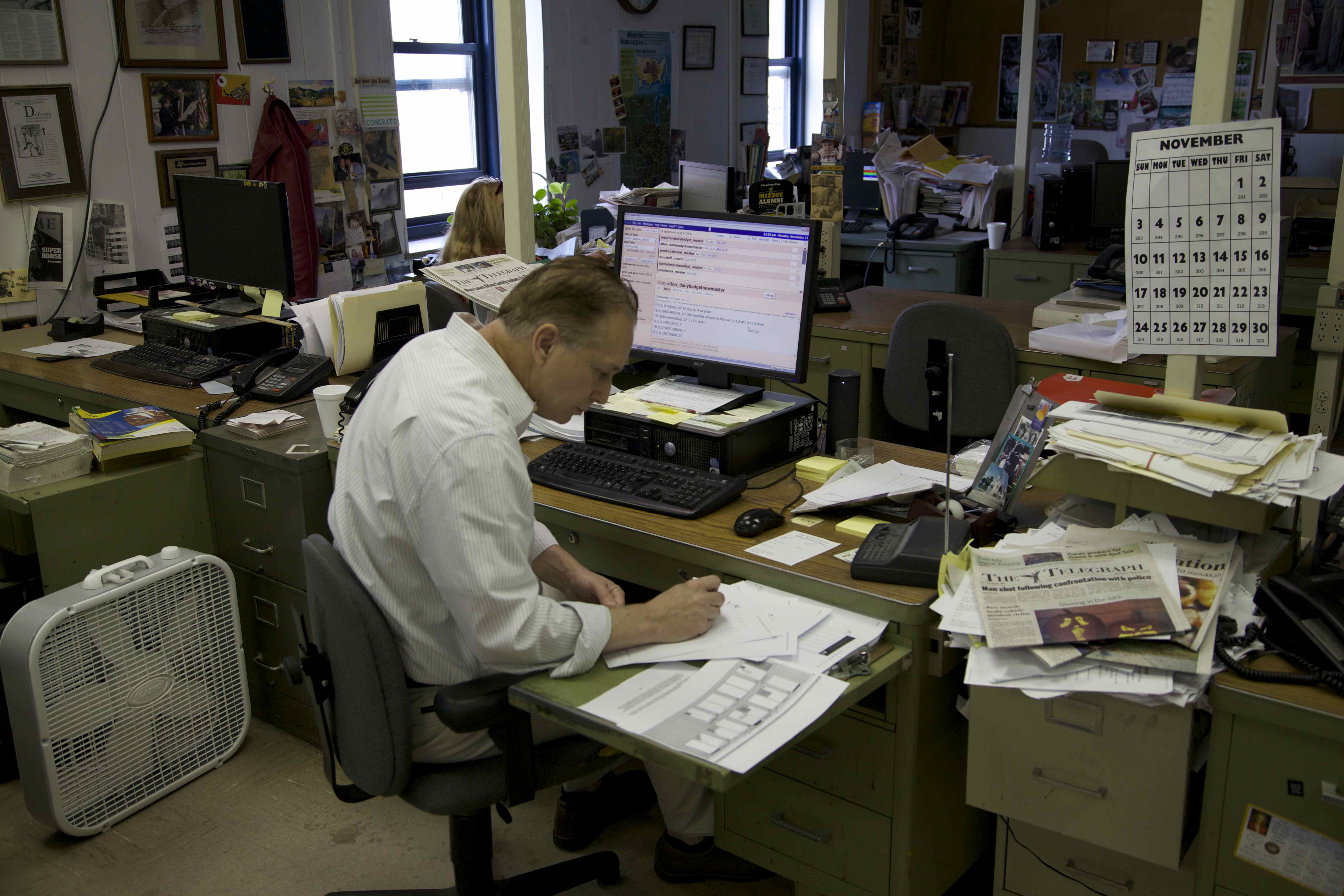 Alton Telegraph newsroom evokes fond memories
