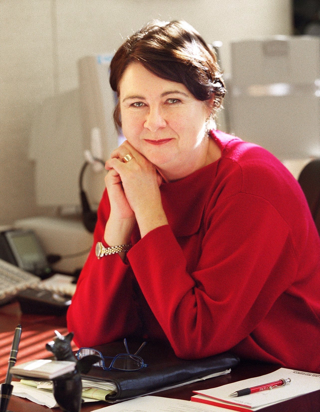 WEDNESDAY, JAN. 2, 2002 - Ellen Soeteber, editor of the St. Louis Post-Dispatch. PHOTO BY JERRY NAUNHEIM JR.